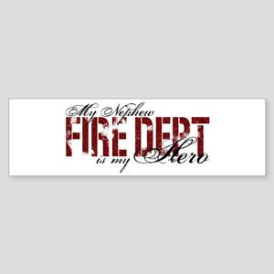 My Nephew My Hero - Fire Dept Bumper Sticker