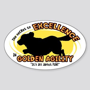 The Secret to Golden Agility Oval Sticker