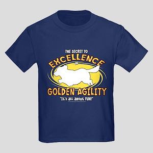 The Secret to Golden Agility Kids Dark T-Shirt
