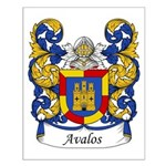 Avalos Family Crest Small Poster