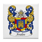 Avalos Family Crest Tile Coaster