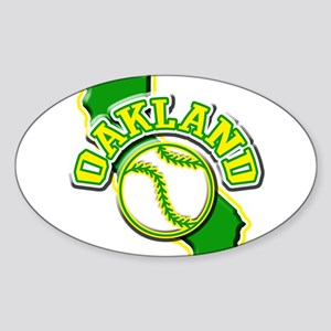 Oakland Baseball Oval Sticker