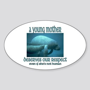 Young Mothers Oval Sticker