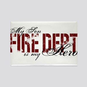 My Son My Hero - Fire Dept Rectangle Magnet