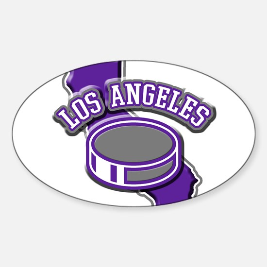 Los Angeles Hockey Oval Decal