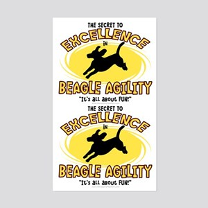 The Secret to Beagle Agility Sticker (2 in 1)