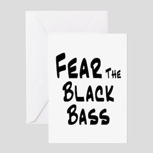 Fear the Black Bass Greeting Card