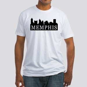 Memphis Skyline Fitted T-Shirt