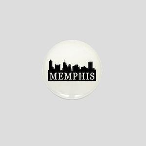 Memphis Skyline Mini Button