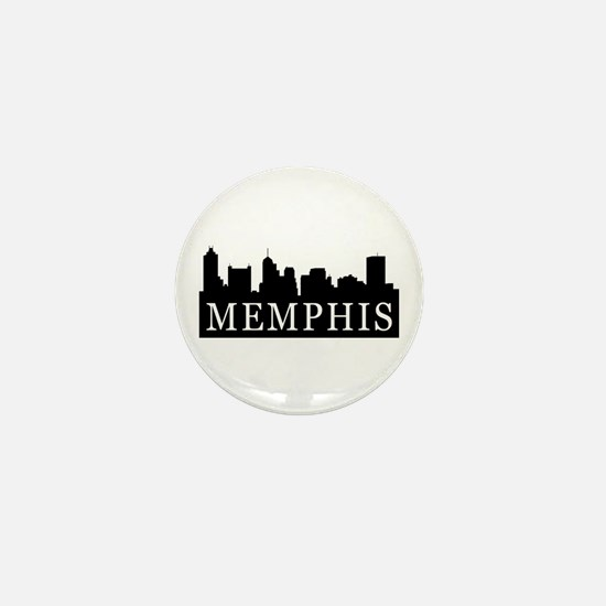 Memphis Skyline Mini Button