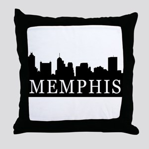 Memphis Skyline Throw Pillow