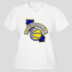 California Basketball Women's Plus Size V-Neck T-S