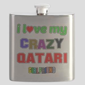 I Love My Crazy Qatari Girlfriend Flask