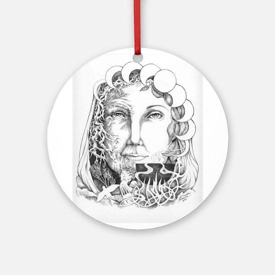 InkWitch Goddess Ceridwen Keepsake (Round)