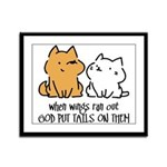 God put tails on them Framed Panel Print