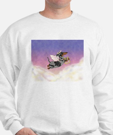 Silver Dapple Dachshund Angel Sweatshirt