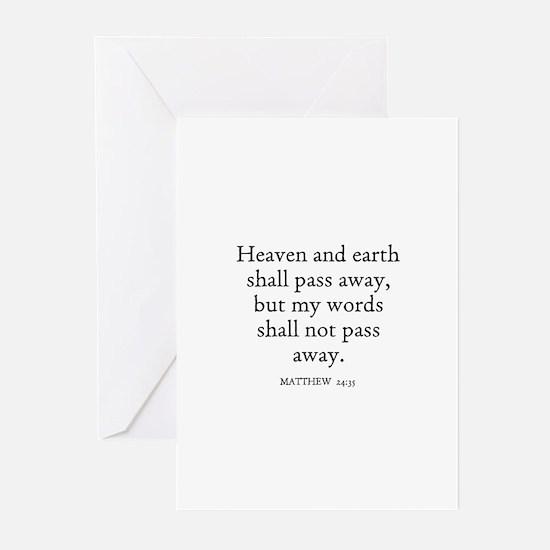 MATTHEW  24:35 Greeting Cards (Pk of 10)