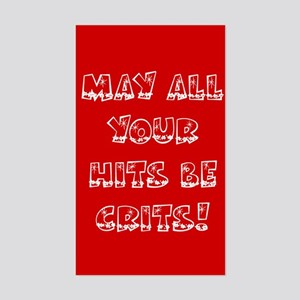 Holiday Hits Be Crits Rectangle Sticker