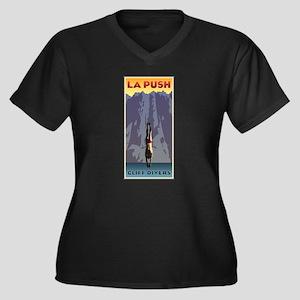 Art Deco La Push Cliff Divers Women's Plus Size V-