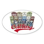 London calling Oval Sticker (50 pk)