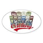 London calling Oval Sticker