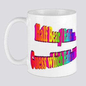Half Bear Rainbow Mug