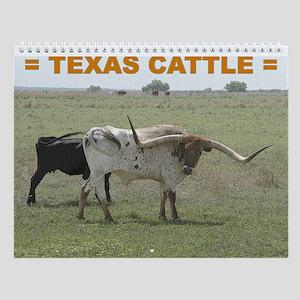 Texas Cattle Wall Calendar