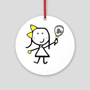 Girl & Tennis Keepsake (Round)