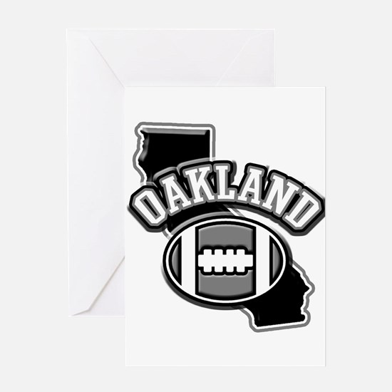 Oakland Football Greeting Card