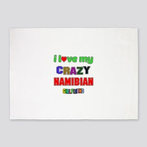 I Love My Crazy Namibian Girlfriend 5'x7'Area Rug