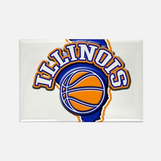 Illinois Basketball Rectangle Magnet