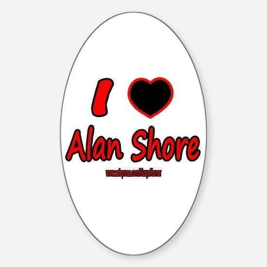 LOVE ALAN Oval Bumper Stickers