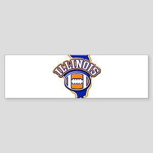 Illinois Football Bumper Sticker