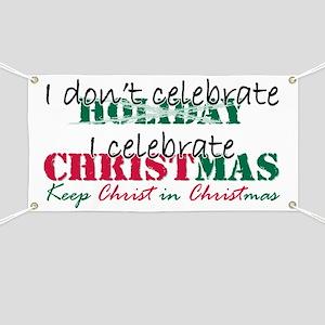 I celebrate Christmas Banner