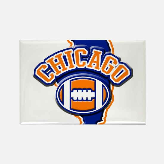 Chicago Football Rectangle Magnet