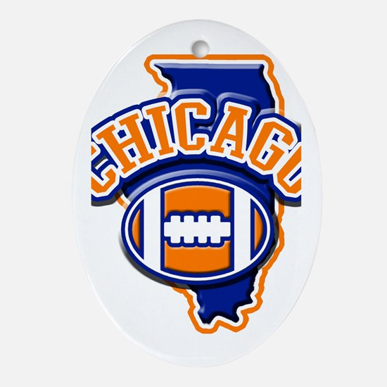Chicago Football Oval Ornament