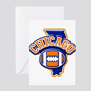 Chicago Football Greeting Card