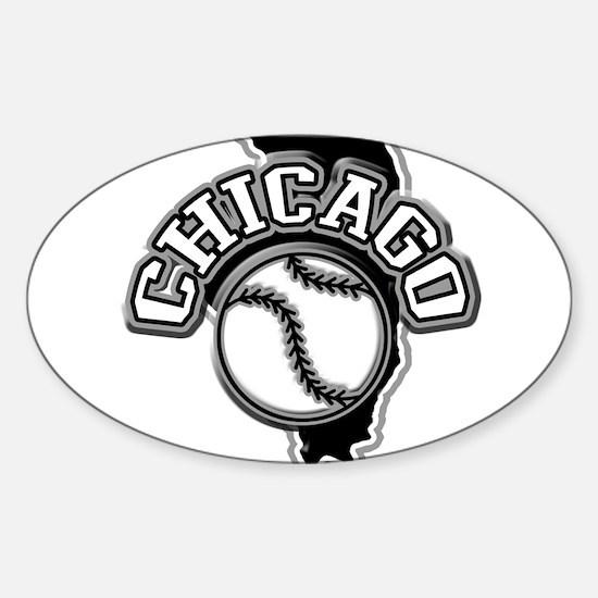 Chicago Baseball Oval Decal