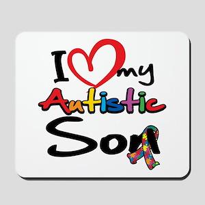 I Love My Autistic Son 2 Mousepad