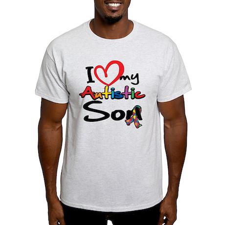 I Love My Autistic Son 2 Light T-Shirt