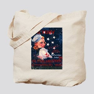 Victory Nostalgia Sailor Girl Tote Bag
