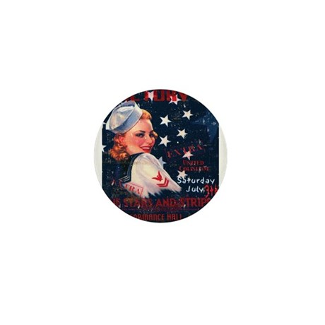Victory Nostalgia Sailor Girl Mini Button (100 pac