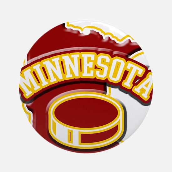 Minnesota Hockey Ornament (Round)