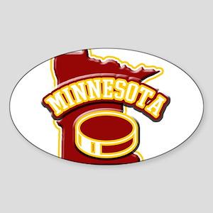 Minnesota Hockey Oval Sticker