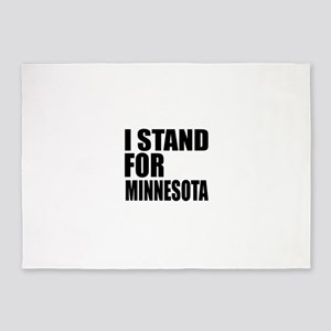 I Stand For Minnesota 5'x7'Area Rug