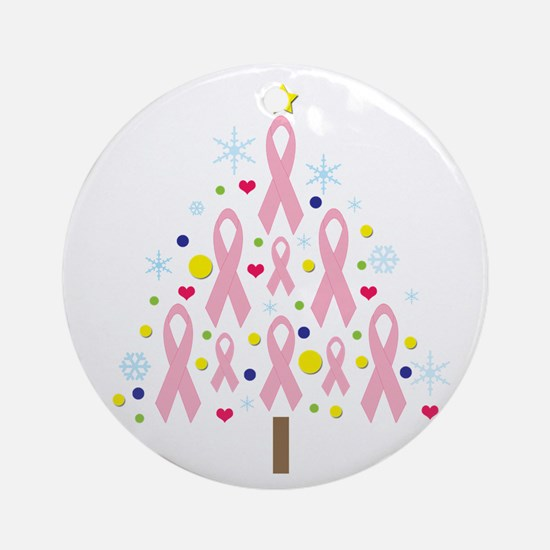 Breast Cancer Awareness Chris Ornament (Round)