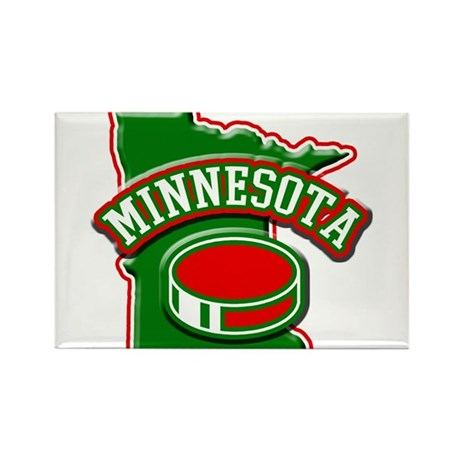 Minnesota Hockey Rectangle Magnet