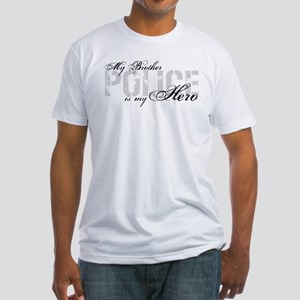 My Brother is My Hero - POLICE Fitted T-Shirt