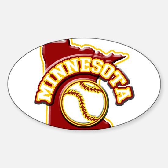 Minnesota Baseball Oval Decal