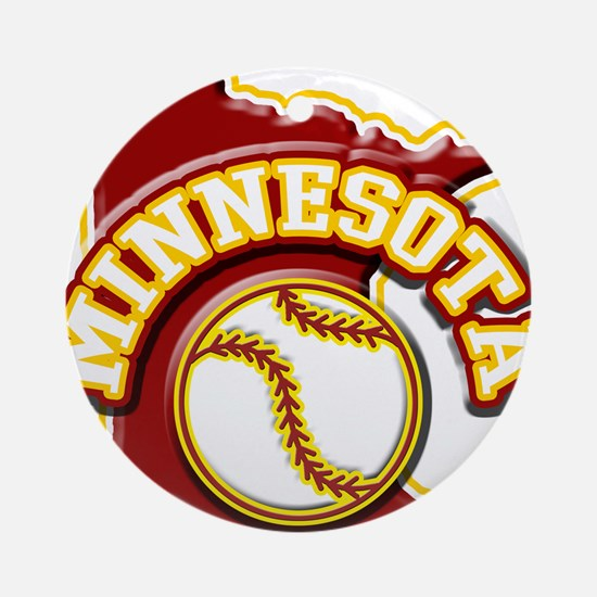 Minnesota Baseball Ornament (Round)